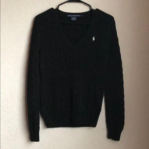 Ralph Lauren Sport V-Neck Cableknit Sweater